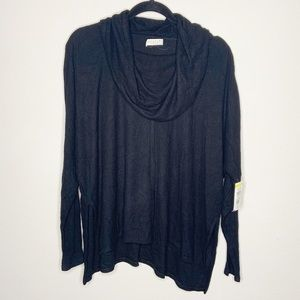 Status By Chenault Black Cowl Neck Sweater Size M